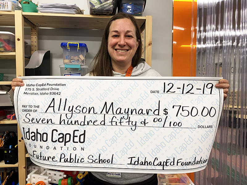 Allyson Maynard - Idaho CapEd Foundation Teacher Grant Winner