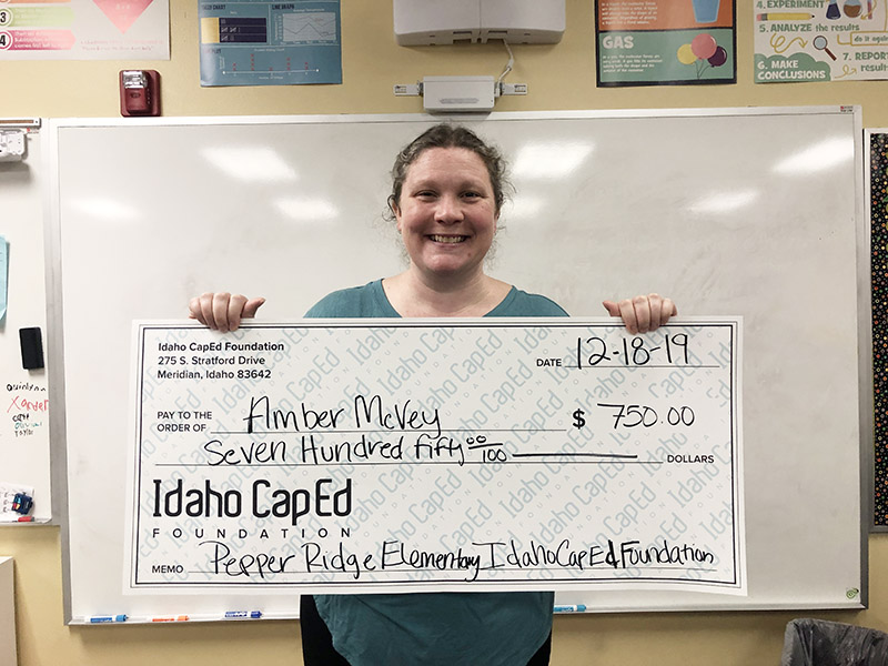 Amber McVey - Idaho CapEd Foundation Teacher Grant Winner