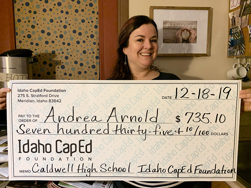 Andrea Arnold - Idaho CapEd Foundation Teacher Grant Winner