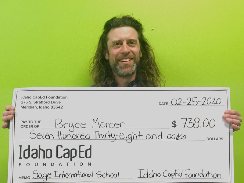 Bryce Mercer - Idaho CapEd Foundation Teacher Grant Winner