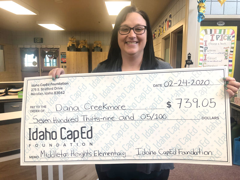 Dana Creekmore - Idaho CapEd Foundation Teacher Grant Winner
