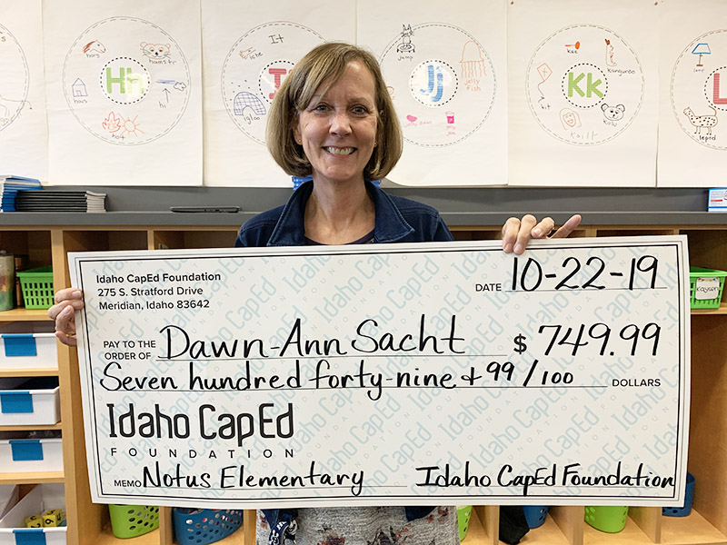 Dawn-Ann Sacht - Idaho CapEd Foundation Teacher Grant Winner