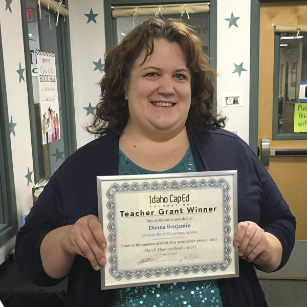 Donna Benjamin - Idaho CapEd Foundation Teacher Grant Winner