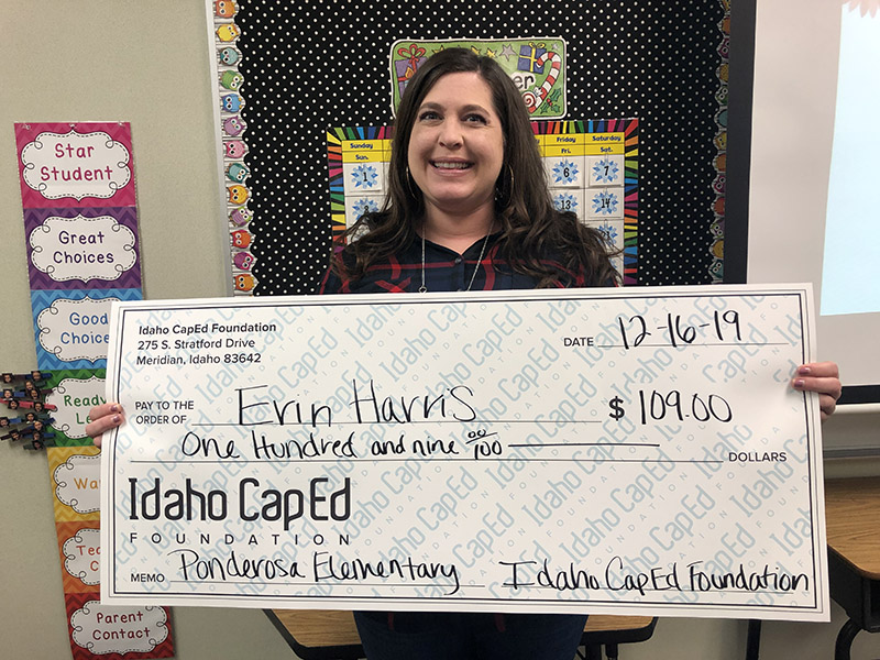 Erin Harris - Idaho CapEd Foundation Teacher Grant Winner