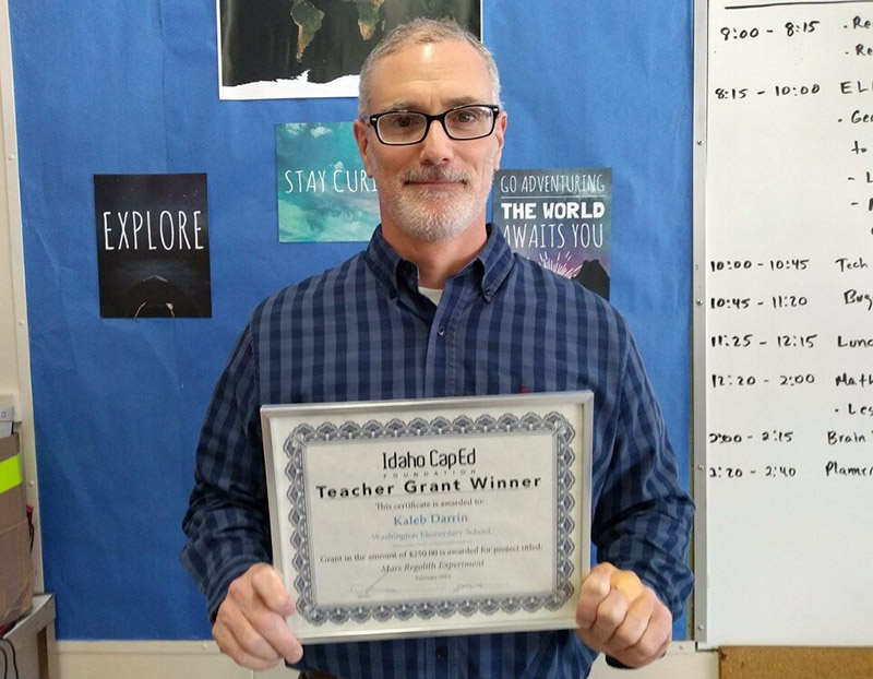 Kaleb Darrin - Idaho CapEd Foundation Teacher Grant Winner