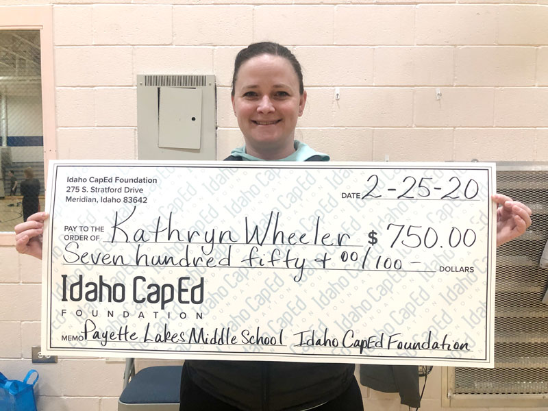Kathryn Wheeler - Idaho CapEd Foundation Teacher Grant Winner