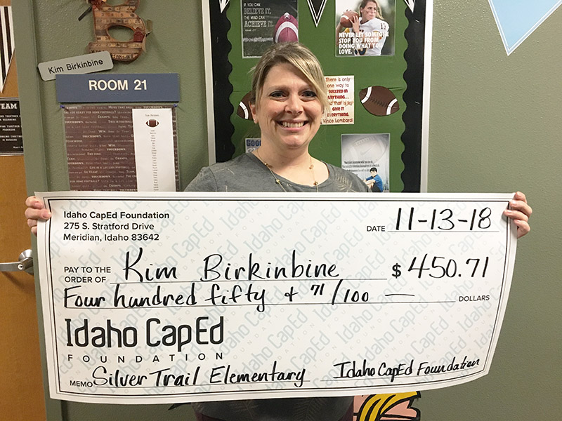 Kim Birkinbine - Idaho CapEd Foundation Teacher Grant Winner