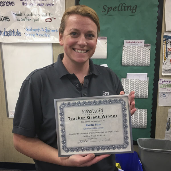 Kristie Sitts - Idaho CapEd Foundation Teacher Grant Winner