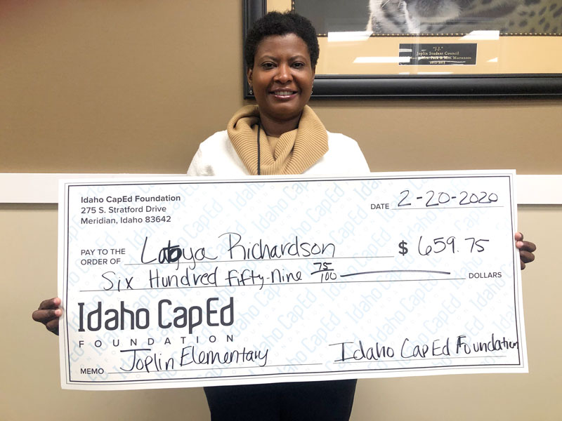 Latoya Richardson - Idaho CapEd Foundation Teacher Grant Winner
