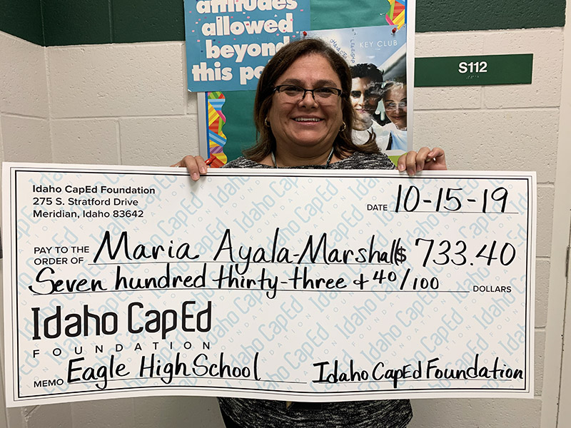 Maria Ayala-Marshall - Idaho CapEd Foundation Teacher Grant Winner