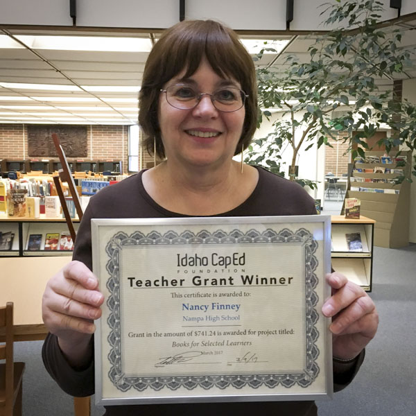 Nancy Finney - Idaho CapEd Foundation Teacher Grant Winner