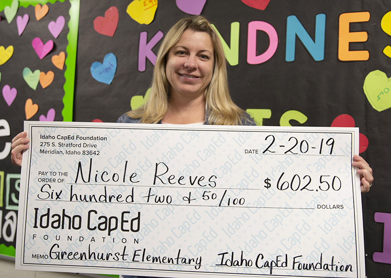 Nicole Reeves - Idaho CapEd Foundation Teacher Grant Winner