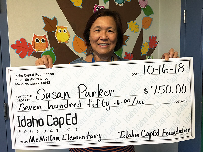 Susan Parker - Idaho CapEd Foundation grant winner.