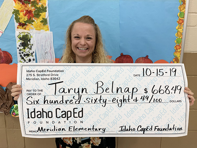 Taryn Belnap - Idaho CapEd Foundation Teacher Grant Winner