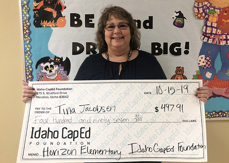 Tina Jacobsen - Idaho CapEd Foundation Teacher Grant Winner